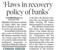 Flaws in bank recoverery